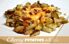 Cheesy Potatoes with Egg recipe
