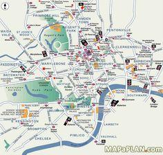 London top tourist attractions map Popular destination spots