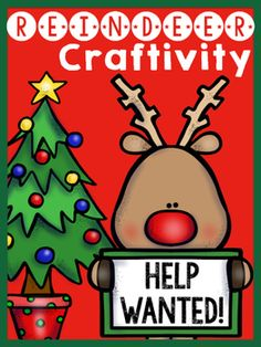 Help Wanted!!! Santa Claus is on the search for new reindeers. Are you up for the challenge?This super cute reindeer craftivity will be a great addition to your Christmas bulletin board. Students will be able to apply to be one of Santa's reindeers. Every student will be highly engaged in creating a new reindeer for Santa's expedition across the world.