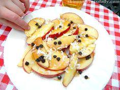 Skinny Sweets Daily: Fresh and Crisp Skinny Apple Nachos (Low Fat)