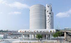 Modern Industrial Architecture creates a bold industrial Sculpture in Paris-01