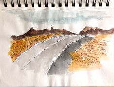 Quick sketch and wash of landscapes in Iceland Weekend Artist, Quick Sketch, Iceland, Landscapes, World, Painting, Ice Land, Paisajes, Scenery