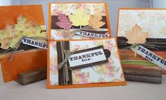 Barbarajean Designs: Thankful For.... Card Class, Stampin' UP!, Magnificent Maple, Thankful for