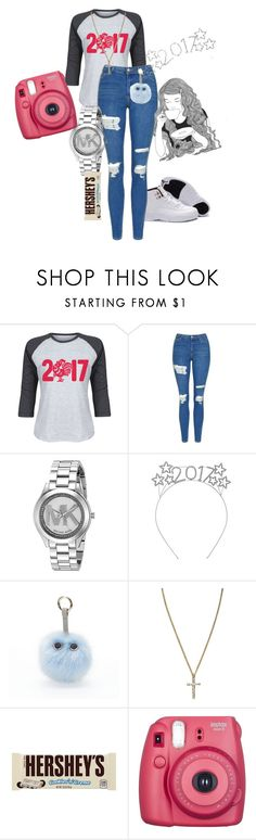 """2017"" by mulalexus ❤ liked on Polyvore featuring Cotton Jungle, Topshop, Michael Kors, Under One Sky, River Island, GE, Hershey's and Fujifilm"