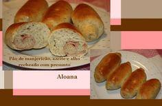 Imprimir Página    Colaboração da Aloana   Essa receita da massa veio daqui , mas usei manjericão seco.     Pão de Manjericão, Azeite e Alho...