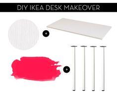 #DIY Ikea desk makeover