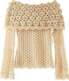 CROCHE COM RECEITAS: Blusa Em Crochê Com Cara De Princesa