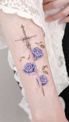 Elegant Tattoos, Dainty Tattoos, Simplistic Tattoos, Sweet Tattoos, Pretty Tattoos, Beautiful Tattoos, Small Tattoos, Cool Tattoos, Sword Tattoo