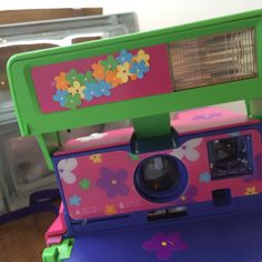 Your place to buy and sell all things handmade Mechanical Calculator, Polaroid One Step, Crt Tv, Vintage Cameras, Low Lights, Pink Purple, Polaroid Cameras, My Etsy Shop
