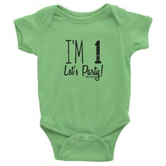 Let's Party Onesie #beanandjean Short-sleeve baby onesie is printed on American Apparel's soft, comfortable, 100% cotton. It's designed to fit infants of all sizes, with a rib knit to give good stretch and a neckband for easy on-and-off.  • 100% baby rib cotton construction (heather contains 10% polyester) • Made and printed in the USA • Neckband for easy on-and-off • Not intended for sleepwear • Shrinkage: it will shrink an average of one size when put in the dryer