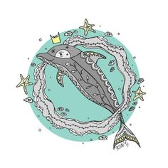 D is for Dolphin by ArtbyKateG on Etsy
