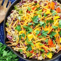 This skillet is a full meal ready pretty darn fast...and it will make everyone Happy!! Ingredients: Serves 4-5 1 lb lean ground turkey 1 red onion, diced 1 medium carrot, grated 2 bell peppers 2 Tbsps avocado, or olive oil 2 cloves of garlic, minced 2 red or green chiles, chopped (or adjust to...