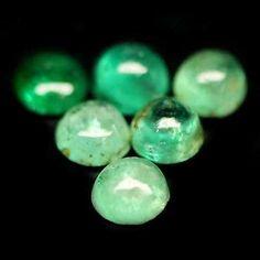 5.15 CT NATURAL! 72PCS GREEN ZAMBIA EMERALD ROUND CABOCHON.. USD 2.45