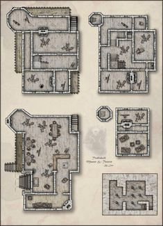 The Sublime's Trollskull Manor & Taphouse Fantasy Map Making, Fantasy City Map, Fantasy House, Fantasy Rpg, Dungeons And Dragons Homebrew, D&d Dungeons And Dragons, Pathfinder Maps, Rpg Map, Pen & Paper