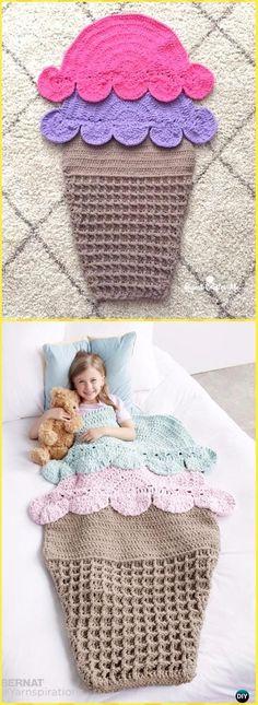 Crochet Double Scoop Snuggle Sack Free Pattern - Crochet Snuggle Sack & Cocoon Free Patterns