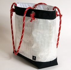 Items Similar To White Sail Cloth Tote Hand Made In Usa Sailcloth Bag On Etsy