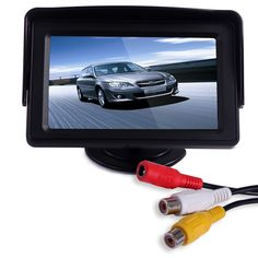 "4.3"" LCD Car Dashboard Color Monitor for Rearview Vehicle Backup Parking Cameras. 4.3"" screen provides clear, clean image. Connect this LCD Monitor to your vehicle for improved visibility. For use with car camera's, rear view cameras, etc. Display Ratio: 16:9; Pixel Resolution: 480x272. Package Contents: 1 x 4.3"" TFT LCD Monitor for Automobiles."
