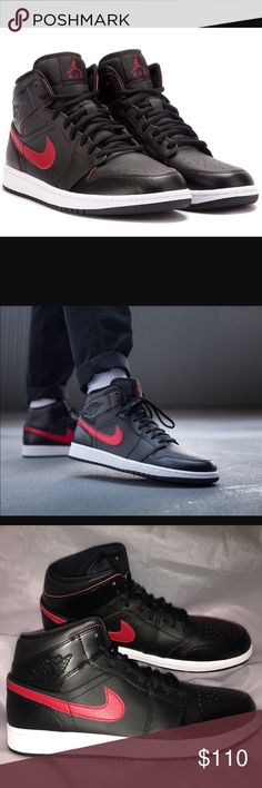 JUST IN!!  AIR JORDAN 1 MID - MENS SNEAKERS ❌NO TRADES❌. Brand new men's sneakers AUTHENTIC ALWAYS.  SHIPS ASAP. SMOKE FREE HOME.  NO BOX Air Jordan Shoes Sneakers