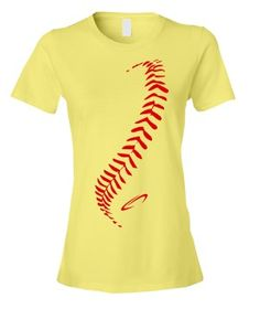 make a statement with this ladies cut seams softball t shirt from gimmedat