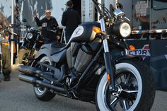 Love the white wall tires on this Victory Motorcycles #SanMateoIMS