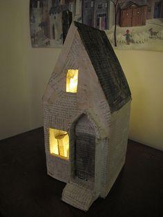 papier mache house   Flickr - Photo Sharing!