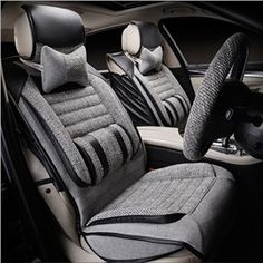 Luxurious Formal Designed And Breathable Linen Material Universal Car Seat Cover Covers Seats
