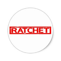 Ratchet Stamp Classic Round Sticker - fun gifts funny diy customize personal