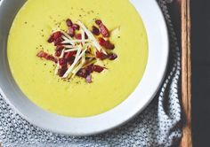 Clodagh McKenna's Recipes | PARSNIP AND APPLE SOUP WITH CRISPY BACON