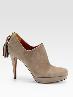 Gucci Betty Mid-Heel Suede Ankle Boots