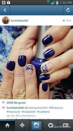 Navy blue & nice designer