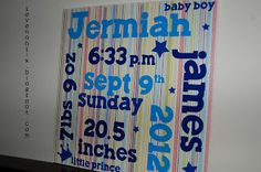 Newborn Stats - great baby gift