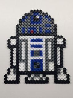Perler beads. R2D2, Star Wars.