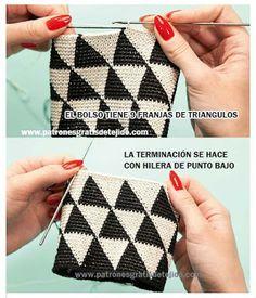 Discover thousands of images about Bolso de mano en crochet estilo wayuu clutch by VientosurSantander Crochet Doily Rug, Bag Crochet, Crochet Clutch, Crochet Motifs, Crochet Handbags, Tapestry Crochet, Tunisian Crochet, Crochet Purses, Love Crochet