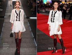 Alicia Vikander In Louis Vuitton – 'Testament Of Youth' London Premiere