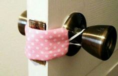 Perfect for sneaking in and out of rooms while a baby is sleeping!