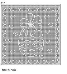 My Hacking 53 - Hacking Filet Crochet, Crochet Stitches, Knit Crochet, Easter Crochet Patterns, Easter Cross, Pinterest Blog, Happy Easter, Doilies, Wordpress Theme