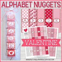 ALPHABET Nugget Wrappers {Valentine} PRINTABLE