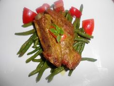 Piept de porc la cuptor cu sos de mustar Pinterest Recipes, Green Beans, Vegetables, Pork, Vegetable Recipes, Veggies