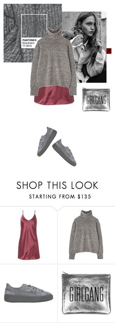 """""""Untitled #2133"""" by katerina-rampota ❤ liked on Polyvore featuring Fleur du Mal, Margaret Howell, Puma and Sarah Baily"""