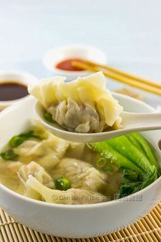 Chinese Dumpling Soup (上湯水餃) - perfect comfort food throughout the year.