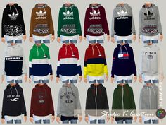 Giruto 46 hoodie Sweater for child(S4CC)standalone / 36 swatches / new mesh by me / base game / have Morphs DOWNLOAD