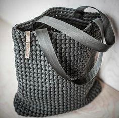 Everyday Tote Bag/ Crochet Shoulder Bag/ Everyday by KnitKnotKiev Bag Crochet, Crochet Handbags, Crochet Purses, Crotchet Bags, Free Crochet, Tshirt Garn, Crochet Shoulder Bags, Tote Pattern, Bag Patterns