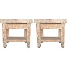 Hand-Carved Wood Side Tables ($2,100) ❤ liked on Polyvore featuring home, furniture, tables, accent tables, two tier side table, hand carved wood furniture, 2 tier table, wooden end tables and wooden furniture