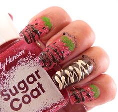#strawberries #strawberriesnails #strawberrieschocolatedip @uberchicbeauty 3-03