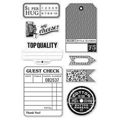 Basic Grey & Hero Arts - Clippings Clear Stamps Guest Check