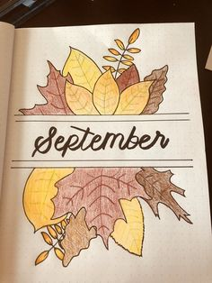 September bullet journal layout - Home Decor September bullet journal layout September bullet journal layout Bullet Journal 2019, Bullet Journal Notebook, Bullet Journal School, Bullet Journal Ideas Pages, Bullet Journal Inspiration, Bullet Journal Leaves, Bullet Journal September Cover, Bullet Journals, Bullet Journal Front Page