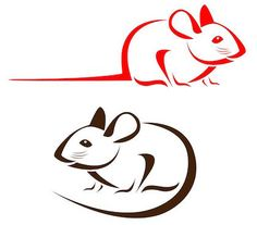 Vector image of an rat Rat Tattoo, Baby Animal Drawings, Animal Stencil, Mouse Tattoos, Animal Doodles, Free Clipart Images, Shrink Art, Cute Rats, Tatoo