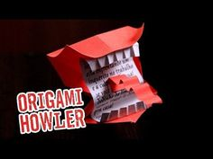 Harry Potter Howler Origami Template and Tutorial