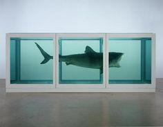 Damien Hirst, Shark, 1991, verre, acier, silicone, requin et solution de formol, 213x640x213 cm,  Londres, Saatchi Gallery