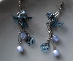 """Boucles d'Oreilles Bohême Chic, Boucles Turquoises,""""Transparences"""", idée cadeau : Boucles d'oreille par princesse-aglae"""